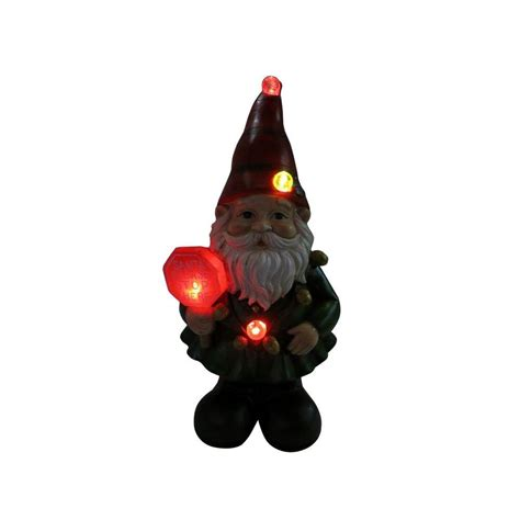 color changing led christmas lights home depot alpine 12 in christmas gnome status with color changing