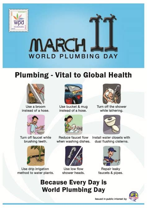 World Plumbing Day by 11 March 2016 World Plumbing Day News Studor