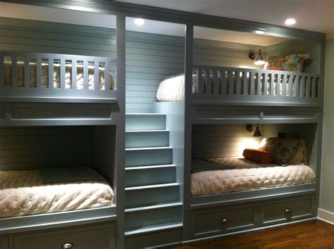 double bed bunk beds double bunk beds in our new basement bunk room fun for