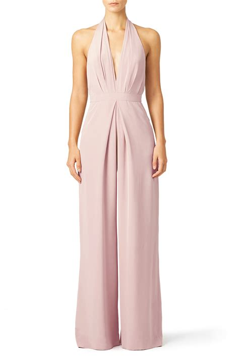 blush pleat jumpsuit by stuart for 40