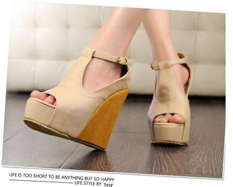 Sandal Wanita Wedges Sdw218 C south korea magazine newest model t s wedges sandals