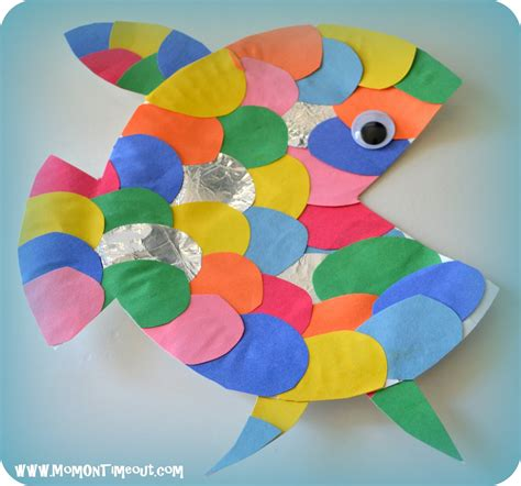 Paper Plate Fish Craft - the rainbow fish book activities crafts and snack ideas