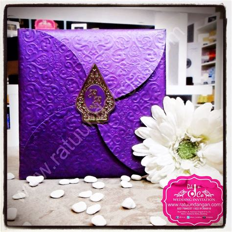 Undangan Single Hardcover Emboss Hotprint Floral kartu undangan pernikahan murah maret 2015