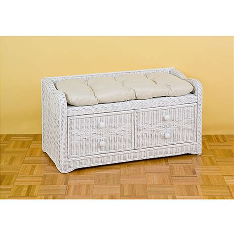 wicker bench storage wicker storage bench walmart com