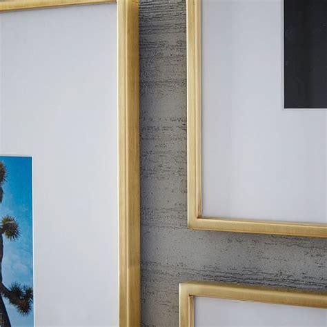 gallery frames polished brass west elm