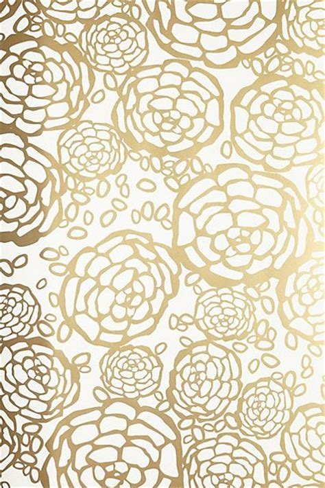 wallpaper with gold patterns petal pusher wallpaper anthrofave golddecor your
