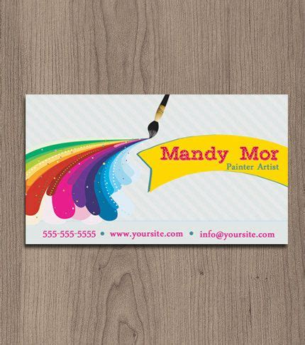business cards for artists painter artist business card pre made by naomigraphics
