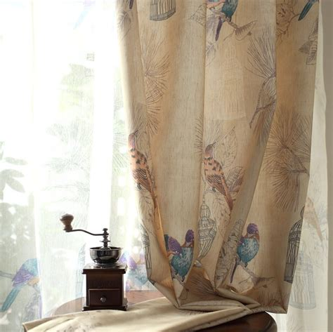 bird drapes bird curtain
