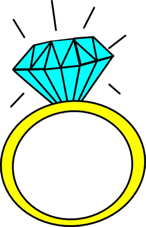 Picture Of A Blue Ring by Ring Clip At Clker Vector Clip