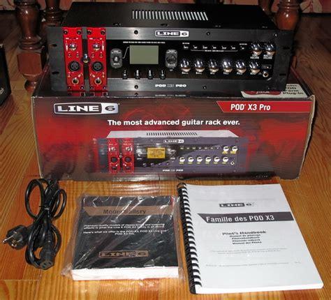 pod line 6 x3 pro rack mountable guitar effects processor