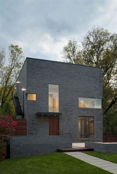 minimal house with cube shape design hden