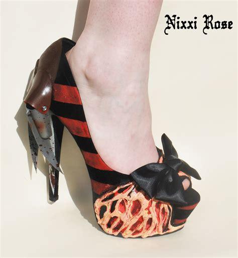high heels show freddy krueger inspired high heels by nixxirose on etsy