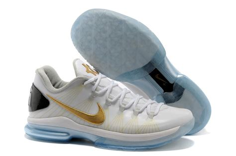 authentic nike kevin durant 5 low white gold shoes 250 00