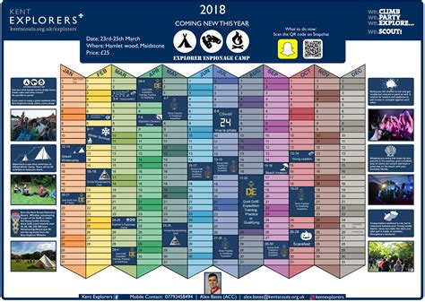 Kent Explorers Kent Explorer Scouts Cub Scout Planning Calendar Template 2018 2019
