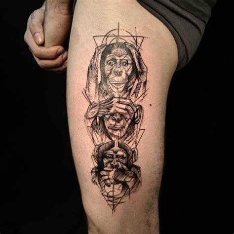 evil monkey tattoo designs best 25 monkey tattoos ideas on monkey