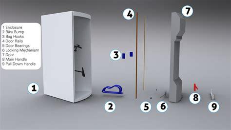 wandschrank velo cycle closet designboom