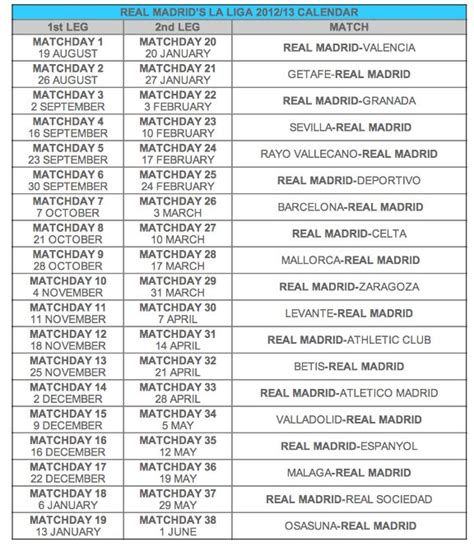 Calendrier Liga 2016 Du Real Madrid La Liga Calendrier 2016 Search Results Calendar 2015