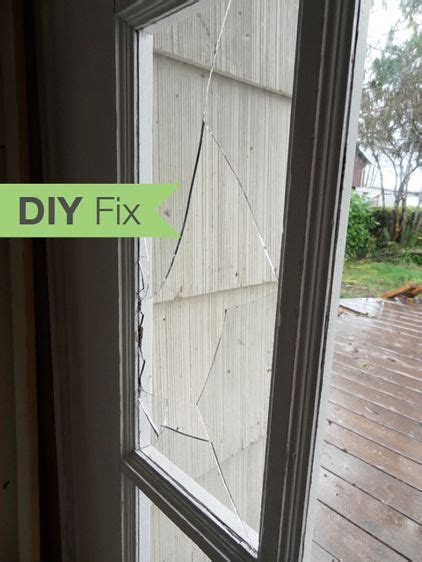 how to fix cracked glass window diy fix how to repair a broken glass door pane