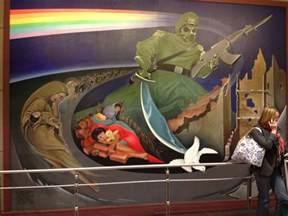 Spongebob Wall Murals denver international airport bunker are the murals a