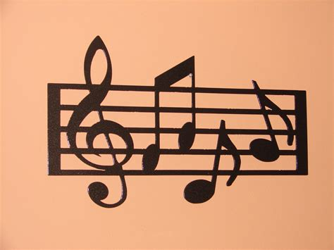 music decor metal wall art home decor music notes musical 18 5in long 12in