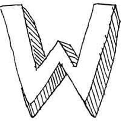 block letter w large block 187 alphabet coloring