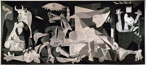 Interesting Wall Clocks by The Background Of Picasso S Quot Guernica Quot 1937