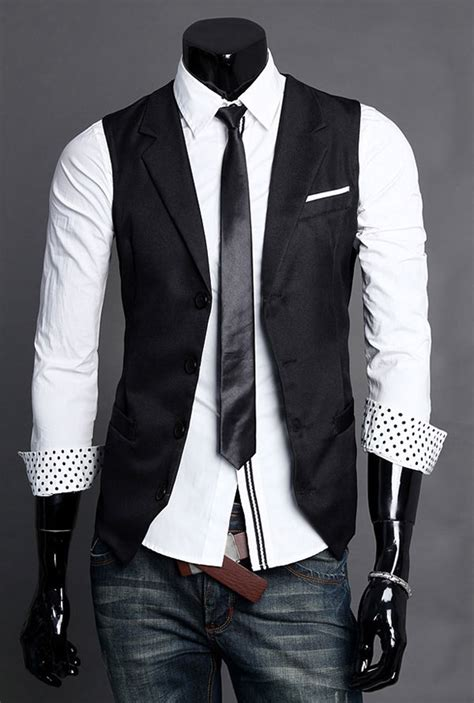 Vest Casual handsome formal vest casual waistcoat dress vests jackets ebay