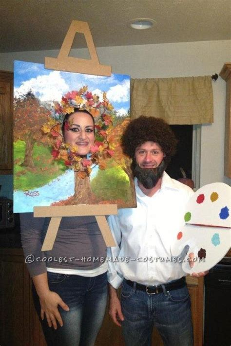 bob ross painting dress costume 18 hilarious costumes for couples