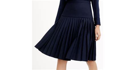 j crew drop waist pleated skirt in 120s wool