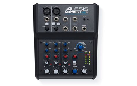 Mixer Audio 4 Ch alesis multimix 4 usb fx 4 channel mixer with effects and usb audio interface