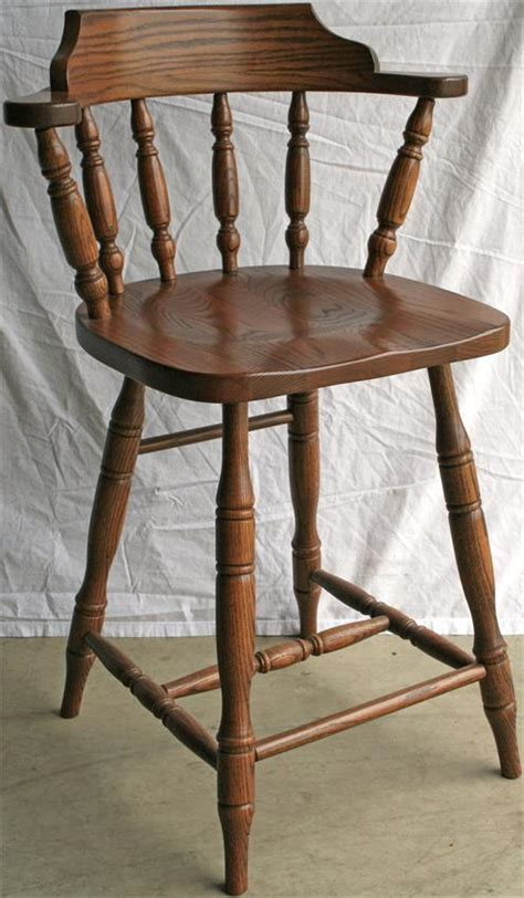 wooden captains chair bar stools solid wood commercial bar stools from dutchcrafters amish