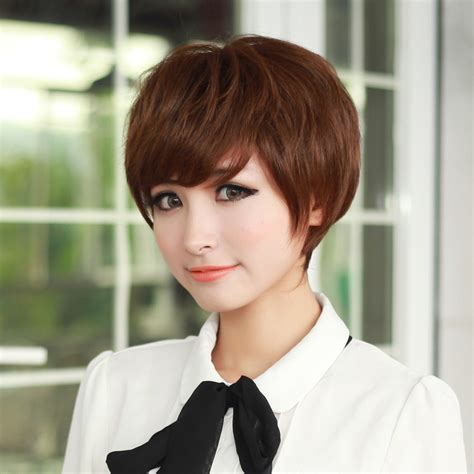 korean hairstyle for square face female korean girls repair face short wigs wig accessories
