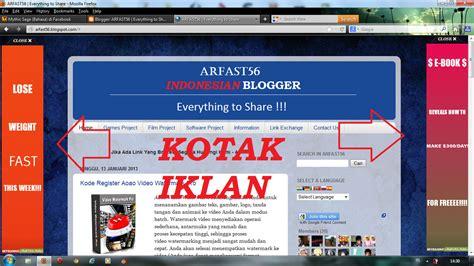 membuat kotak iklan di blog memasang membuat kotak iklan blog melayang di kiri dan