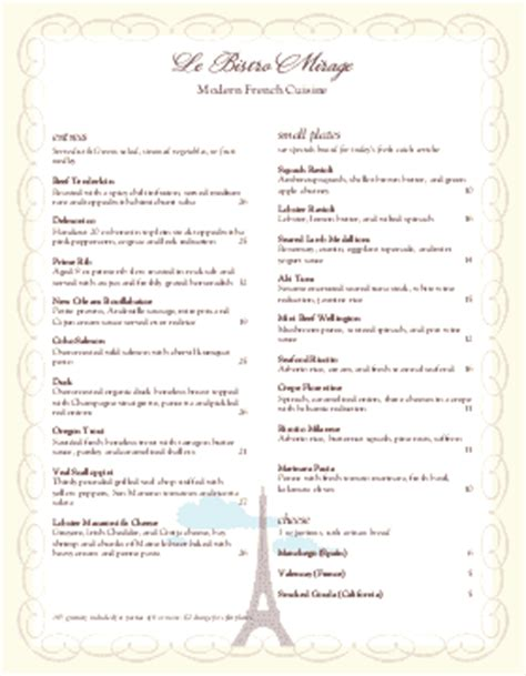 fancy restaurant menu template restaurant menu templates musthavemenus