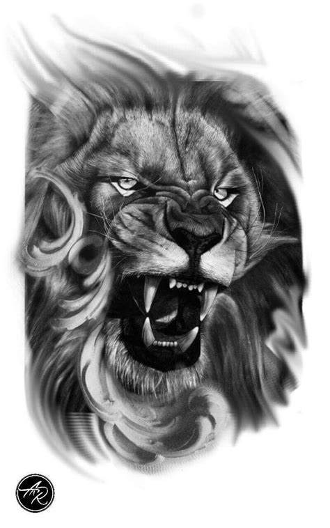 lion blumen lion tattoo tatuagem de le 227 o tiere l 246 wen t 228 towierung