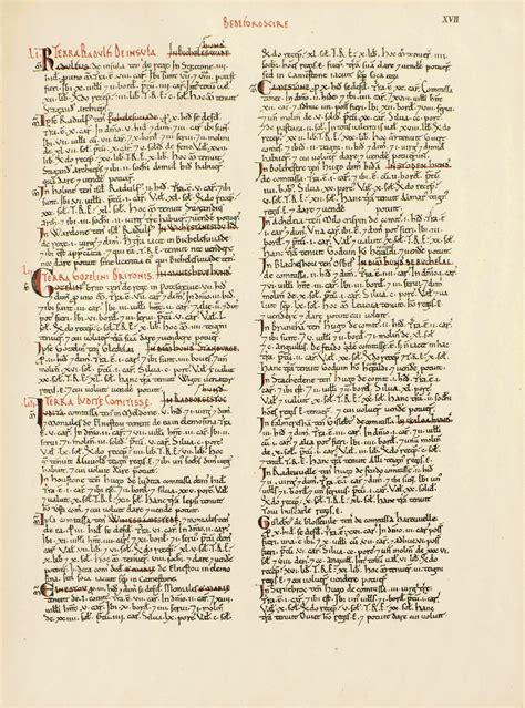 book pages file domesday book bedfordshire page 17 png
