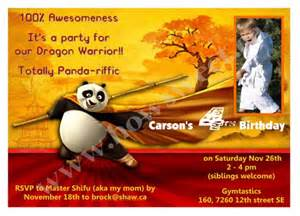 kung fu panda birthday invitation sweetparties children s on artfire