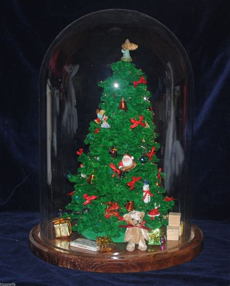 vintage westrim beaded mini christmas tree with dome two