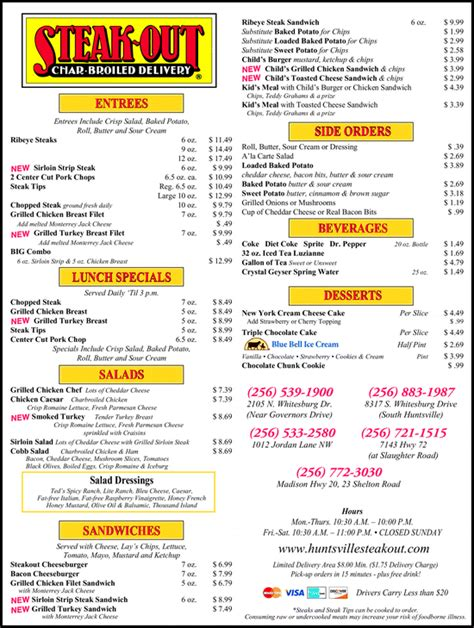 Steak Out Right Way Restaurants Inc, Huntsville, AL 35804