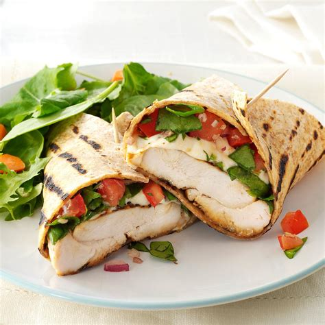 bruschetta chicken wraps recipe taste of home