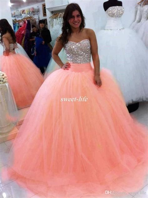 sparkly beading crystals quinceanera dresses