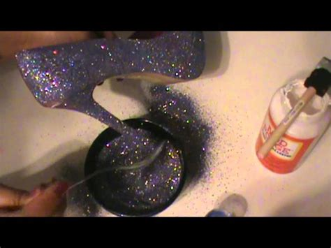 How To Make A High Heel Shoe Out Of Paper - diy glitter heel