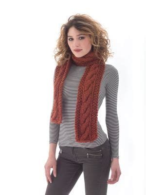 faux cable scarf in lion brand wool ease thick quick maybe i ll try knitting something simple like this scarf