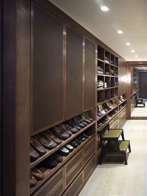 Shoe Closet With Doors Walk In Closet With Paneled Bi Fold Wardrobe Closet Doors Transitional Wood Dressing Room Doors Bespoke Dressing Room Cabinetry S Closet Pinterest