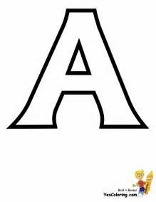 color letter a standard letter printables free alphabet coloring page