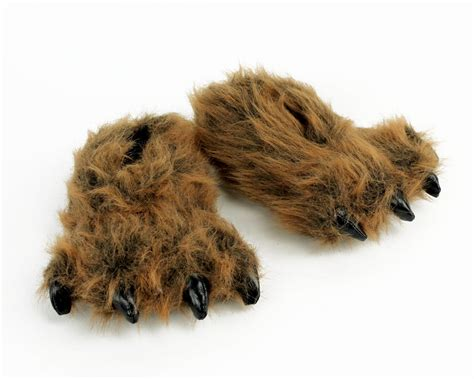 bears slippers grizzly paw slippers slippers for