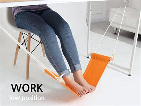 leg hammock for desk suspended footrest for ergonomic and comfortable tables and desks