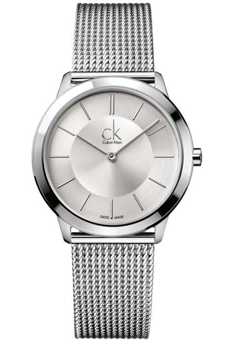 Montre CK Minimal M K3M22126 Calvin Klein Argenté   Montres & Co