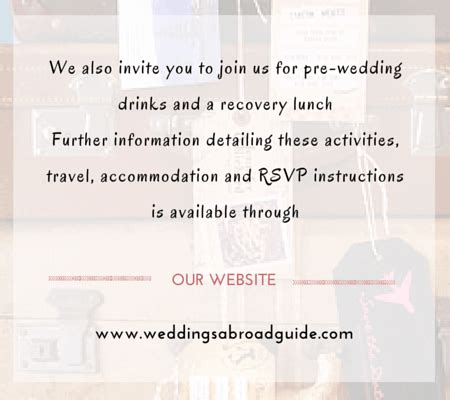 Wedding Blessing Abroad by Destination Wedding Invitation Wording Weddings Abroad Guide