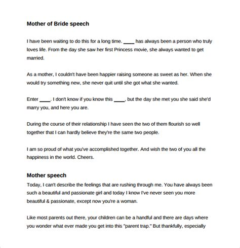 Wedding Speeches by Sle Wedding Speech Exle 7 Free Documents